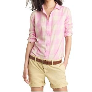 J.Crew The Boy Shirt in Maxi Check size 10